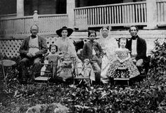 Bias Family, including man on far right side, Cesario Bias (1800-1866), who died in Richmond, VA