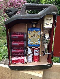 Upcycled Jerry Can Mini Bar