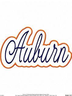 Auburn Logo Embroidery Design