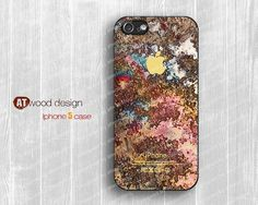 iphone 5 cases  iphone 5 case iphone 5 cover colorized rust metal image design printing atwoodting design. $14.99, via Etsy.
