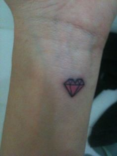 My pink diamond heart shaped tattoo