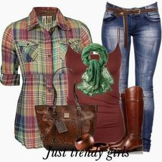 Shirts For Women Long Sleeve Pretty Dresses For Church For Women Outfits Casual Outfits Jeans, Mode Outfits, Stylish Outfits, Fashion Outfits, Plaid Shirt Women, Plaid Shirts, Flannels, Fall Winter Outfits, Autumn Winter Fashion