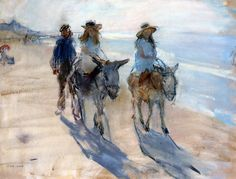 /israels-isaac-riding-the-donkey- in pastel