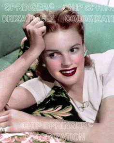 5 DAYS! 8X10 JUDY GARLAND & TROPICAL PILLOW SUNNING COLOR PHOTO BY CHIP SPRINGER. Please visit my Ebay Store at http://stores.ebay.com/x5dr/_i.html?rt=nc&LH_BIN=1 to see the current listings of your favorite Stars now in glorious color! Message me if you would like me to relist your favorites. Check out my New Youtube videos at https://www.youtube.com/channel/UCyX926rA5x4seARq5WC8_