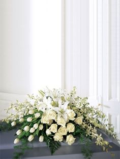 The Etiquette of Sympathy Flowers and Funeral Floral Arrangements . - flower arrangements for a funeral Arrangements Funéraires, Funeral Floral Arrangements, Church Flower Arrangements, Church Flowers, Funeral Flowers, Funeral Bouquet, Flowers For Men, White Flowers, White Roses