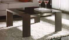 Mesa de Centro Cuadrada en madera de Roble con Cristal Ref M48000