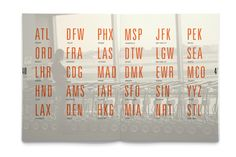 """Lifted: A Look At Airport Typography. Designer, Writer and Photographer: Sally Carmichael. """"An 82-page perfect bound hard cover book which discusses the important role typography plays in international airports."""""""