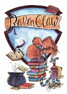 I know I belong in Hufflepuff… But I harbor a soft spot for Ravenclaw - Hogwarts Fanart Harry Potter, Harry Potter World, Magie Harry Potter, Wallpaper Harry Potter, Arte Do Harry Potter, Theme Harry Potter, Cute Harry Potter, Harry Potter Drawings, Harry Potter Houses