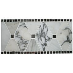 Kelli Ellis Alexa Border Marble and Mirror Tile - Mirror - Glass Collections