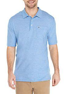 e3f99201dd2c9b Crown   Ivy™ Motion Flex Short Sleeve Stripe Jersey Polo Shirt ...