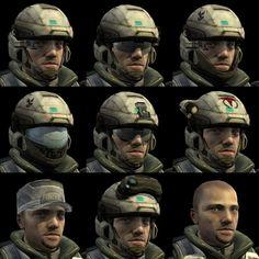 halo reach marines - Sök på Google Game Character Design, Character Concept, Concept Art, Character Creation, Odst Halo, John 117, Halo Cosplay, Halo Armor, Halo Game