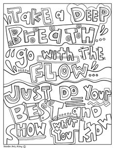 Testing Encouragement Coloring Pages. Classroom Doodles from Doodle Art Alley Testing Encouragement Coloring Pages. Classroom Doodles from Doodle Art Alley Spring Coloring Pages, Quote Coloring Pages, Printable Coloring Pages, Colouring Pages, Adult Coloring Pages, Coloring Books, Colouring Sheets, Fairy Coloring, Doodle Coloring