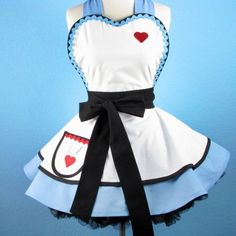 Enchanted Alice Apron for Tea Time Womens Apron Retro by dotsdiner, $80.00.. MUST MAKE THIS!