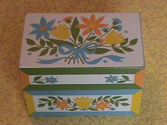 Vintage Recipe Tin  recipes sold seperately by RetroRevolutions, $5.95