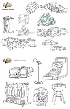 Artes de produção do seriado Gravity Falls | THECAB - The Concept Art Blog Cartoon Background, Animation Background, Art Background, Gravity Falls Characters, Gravity Falls Art, Android Jones, Anna Cattish, Mary Blair, Cartoons
