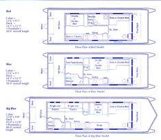 Houseboat Plans | House Boat Holidays Ltd. Floor plans