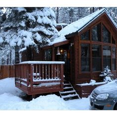 Cubby Bear Cabin*Pet Friendly*Picturesque, So Lake Tahoe ❤ liked on Polyvore featuring backgrounds, houses, winter, pictures and photos