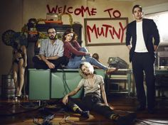 Scoot McNairy, Kerry Bishé, Mackenzie Davis a Lee Pace in a portrait for AMC's 'Halt and Catch Fire' Season 2 (premieres May 31st at 10pm ET/PT)
