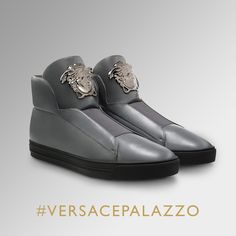 Walk in style with the #VersacePalazzo sneaker collection. Find more on versace.com #VersaceSneakers