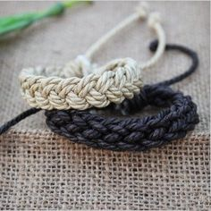 Fashion accessories handmade hemp rope woven unisex bracelet lovers bracelet   Tophandmade - Jewelry on ArtFire