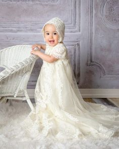 Lace Christening Gowns, Baptism Dress, Dress Out, New Dress, Baby Girl Baptism, Camilla, Special Occasion Dresses, Dress Making, Wedding Gowns