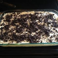 Dirt Pudding.  I've seen different recipes for dirt pudding.  This one's my favorite.  Just add gummy worms!