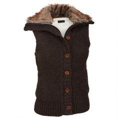Black Rivet Knit Textured Vest w/Faux-Fur Collar $45.00                      Our…