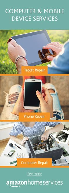 Cracked screen? Computer virus? Something just not working? Don't fear, a top-rated service provider can be there. Order computer, phone or tablet repair directly on Amazon.