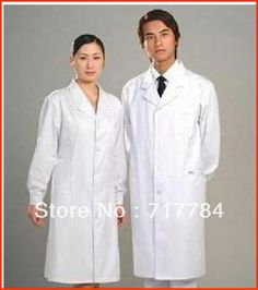 Free Shipping Thickening standard doctor clothing long-sleeve nurse clothing physician services lab coat white coat $17.98
