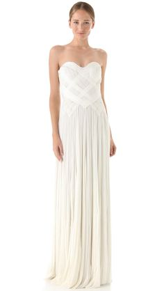 Strapless Woven Gown