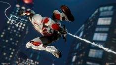 Spiderman Suits, Spiderman Art, Miles Morales, Spectacular Spider Man, Amazing Spider, Spider Man Playstation, Kevin Parker, League Of Heroes, Sci Fi Armor