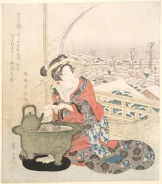 Keisai Eisen  Overnight snow in Yoshiwara  Fitzwilliam Museum
