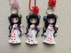 Necklace Japanese love fimo polymer clay. by Artmary2 on Etsy, €12.00