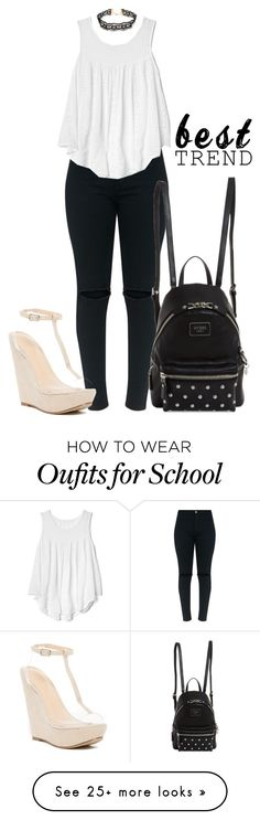 """""""Eyelet"""" by bitty-junkkitty on Polyvore featuring Gap, GUESS, Forever 21 and Chase & Chloe"""