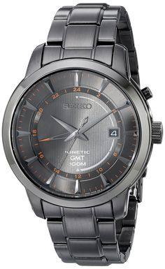 Seiko Men's SUN039 Analog Display Analog Quartz Black Watch