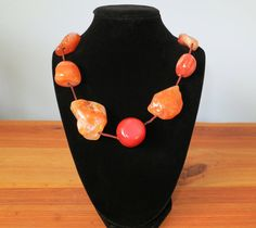 Carnelian Agate Necklace by IrisMDesigns on Etsy, $50.00