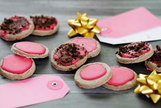 Dalmatian DIY: {RECIPE} Hot Pink Glazed Valentine's Day Carob Cookie Dog Treats | All natural food colouring!