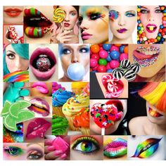 Colorful, Candy, Cute, Creative, Makeup looks ;)