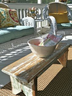 Chateau Chic: Welcome to the Back Porch. I will put it on the front porch. Outdoor Rooms, Outdoor Sofa, Outdoor Living, Outdoor Decor, Cottage Porch, Lakeside Cottage, Rustic Cottage, Cottage Style, Porch Decorating