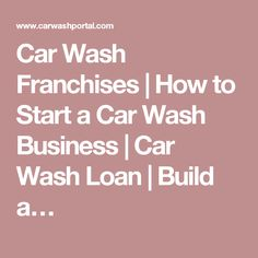 Car Wash Business Plan How To Start Your Business Plan  Car Wash