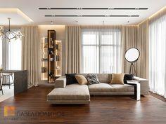 Фото: Дизайн интерьера гостиной - Квартира в стиле минимализм, ЖК «Смольный парк», 103 кв.м.