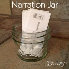 Narration Jar and Narration Cube