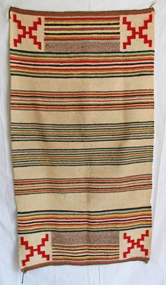 Vintage Southwest Navajo Rug by GeronimosCollection Native American Blanket, Native American Rugs, Native American Moccasins, Native American Design, Navajo Weaving, Navajo Rugs, Indian Quilt, Indian Rugs, Textile Patterns