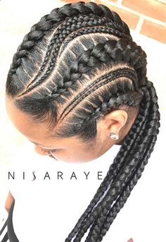 43 Cool Ways to Wear Feed In Cornrows | Page 4 of 4 | StayGlam Ghana Braids Hairstyles, Chic Hairstyles, Spring Hairstyles, Braided Hairstyles, African Hairstyles, Black Girl Braids, Girls Braids, Brown Ombre Hair, Long Box Braids