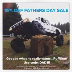 Don't forget to take advantage of our 15% OFF Father's Day Sale - ➡️Use Code: DAD15 *Valid on all parts we manufacture *Excludes axle housings, 3rd members, diff covers & Reid. #sale #fathersday #dadsrule #ruffstuffspecialties #offroad #fabrication #4x4 #4wheel #ford #ranger #flex #4wheelporn