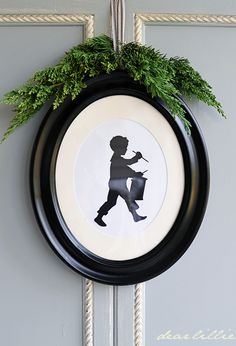 Drummer Boy Cardstock Silhouette Set in Black