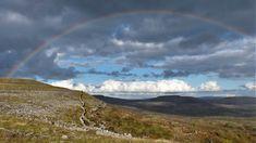 Co. Clare: Rainbow, Fahy North. Irish Landscape, My Photos, Rainbow, Mountains, Nature, Travel, Naturaleza, Rain Bow, Viajes