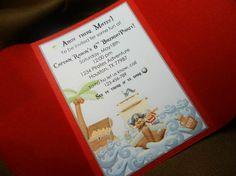 Ahoy Matey Pirate Party Invitation Set Of 8 by ThreeKidsPartyShop, $28.00