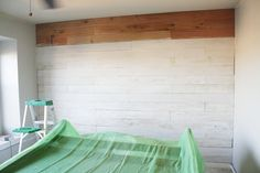 white-washed wood wall