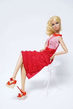To the Fair Poppy Parker | in a Barbie Red dress